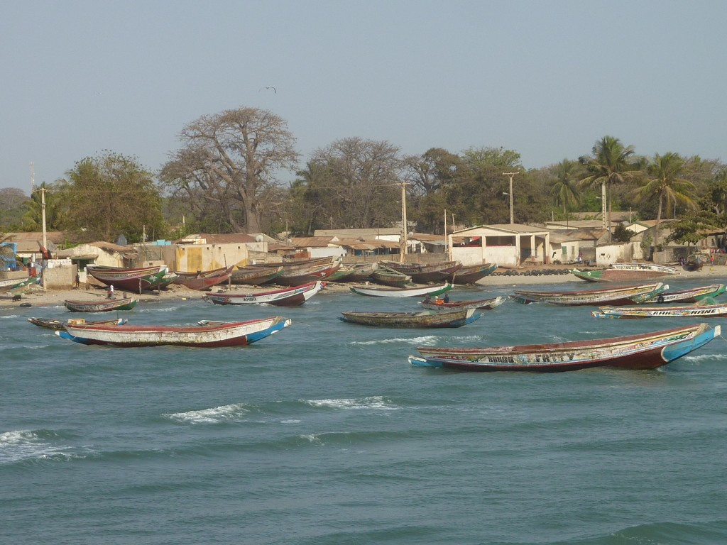 Fishing boats in Banjul Harbour