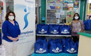 Soroptimists in Esperance Trinidad and their Comfort Hampers, responding to COVID-19