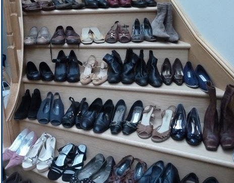 April Winner - SI Winchester and District - Stairway of Shoes