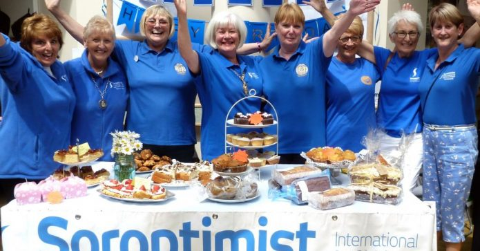 August 2018 - Tamworth Soroptimists celebrated their 70th year pictured here at their cake stall