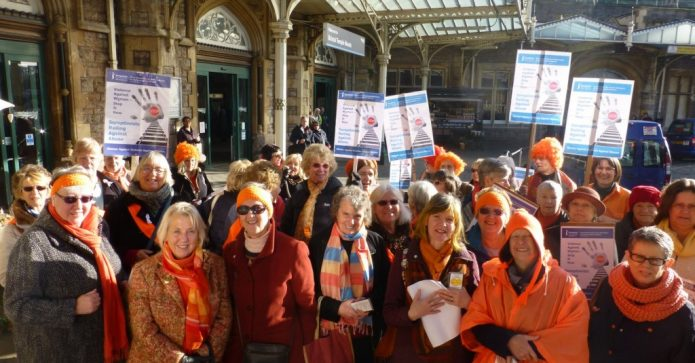 December 2016 - Soroptimists from Southwest & Channel Islands marched as part of UN Day for the Elimination of Violence Against Women