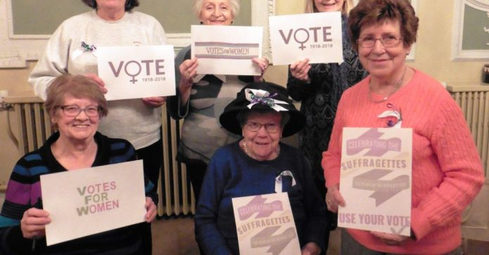 February 2018 - Ipswich Soroptimists celebrated the centenary of votes for (some) women