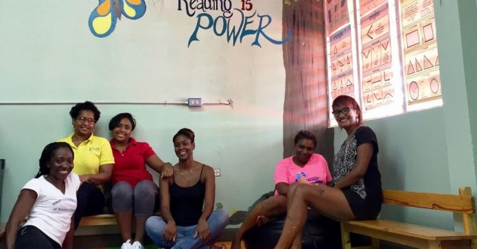 March 2018 Newtown Soroptimists renovated a school library in Trinidad