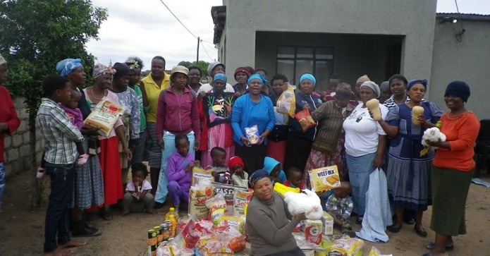 March Winner - SI Pretoria Mapula Embroidery Project received money to buy special food for Christmas
