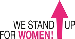 We Stand Up for Women logo
