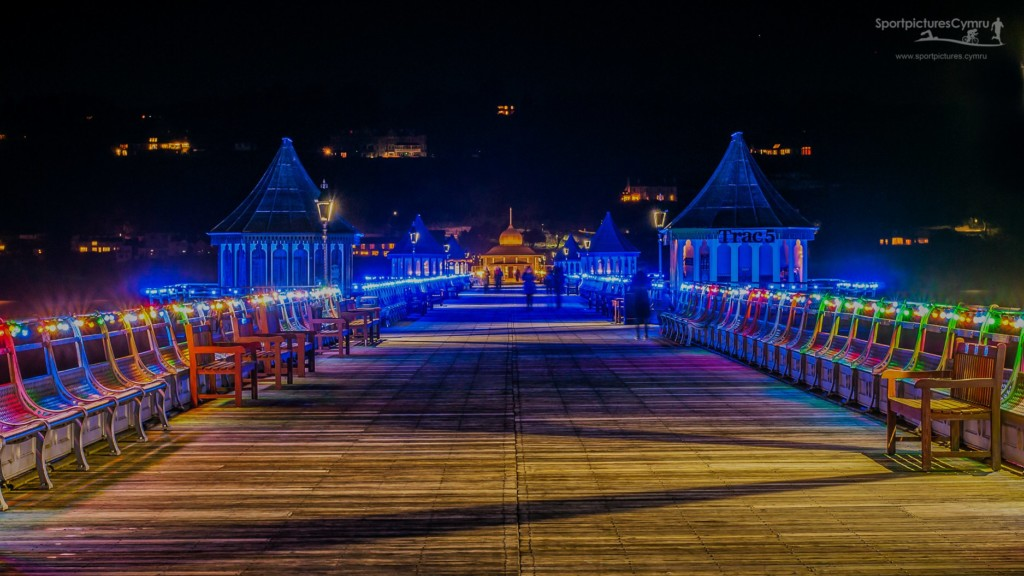 Bangor Pier in Light up for Christmas 2020