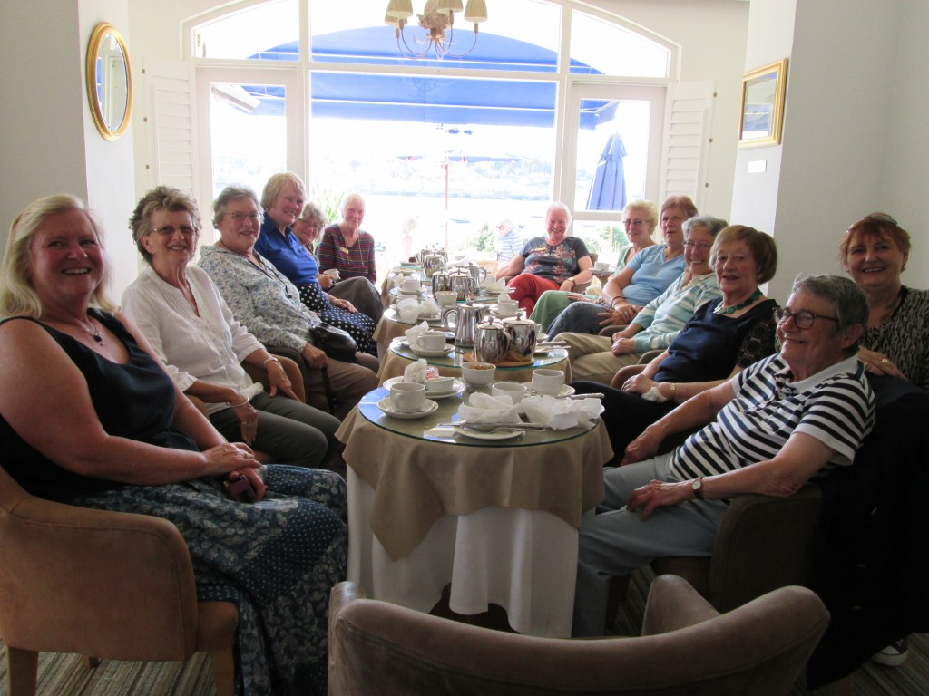 Coffee with Soroptimist frends from a visiting club.