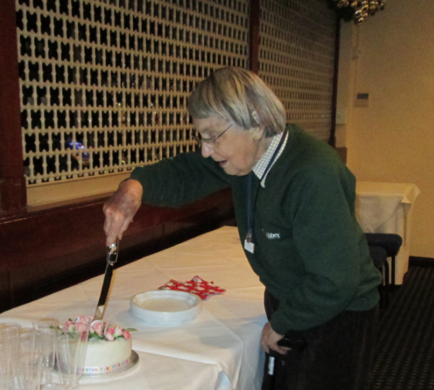 Our oldest member, Cecil Maule-Oatway, celebrated her 90th Birthday with members at the end of the December business meeting. Cecil joined Soroptimist International of Exeter in 1952 and transferred to SI Barnstaple in 1971. She rarely misses a meeting, and is still interested in all aspects of the organisation.