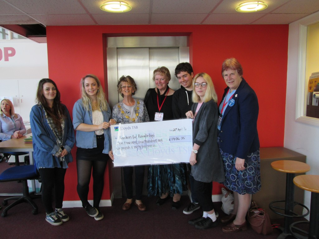 A huge Thank You to Petroc Students who raised £1406.35 for our Knicker for Knowledge