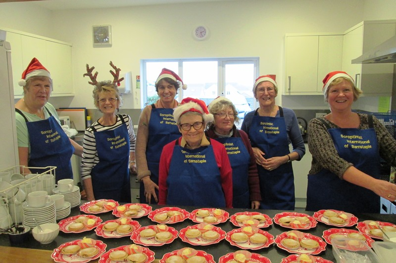 Santa's Little Helpers - We held a mince pie and cream event in Westward Ho! and raised funds for local charities