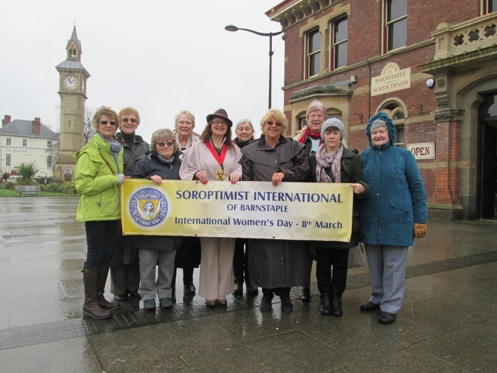 Barnstaple Mayor joined us for a wet International Women's Day