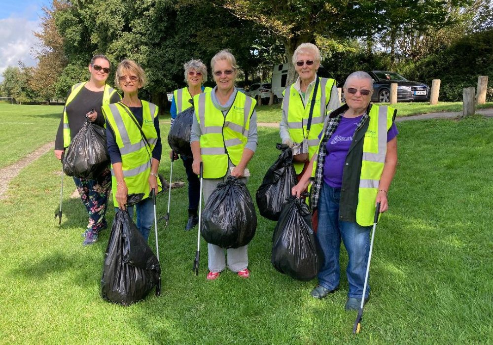 litter pick Rock Park, Barnstaple