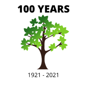 infographic of a tree marking 1921 - 2021