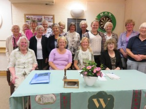 Bilston members Jackie 3rd from right, Sue 4th from left with Morton WI members.