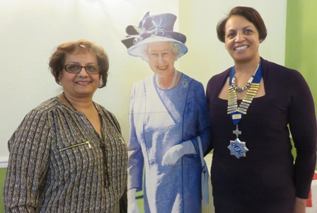 ' Her Majesty' joined Kumlash Kumari speaker and President Barbara