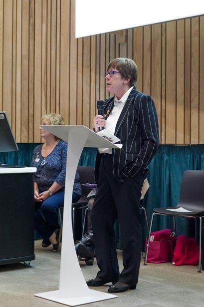 Judge and motivational speaker Ann Garvie, Past President of Soroptimist International