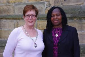 President Sandra with President Elect Beatrice
