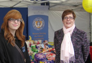 President Sandra and Rebecca guard the chocolate tombola!