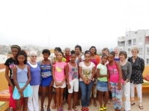 Visiting the girls in Cape Verde