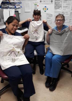 Nurses at Princess of Wales Hospital Bridgend say thanks