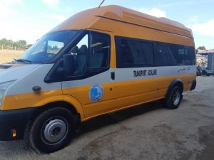 The vehicle that has been bought to provide safe transport for the girls to go to secondary school
