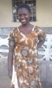 This is Naffie Kanyi, who has been sponsored by the Club for several years. She lives is Wellingara in Gambia.