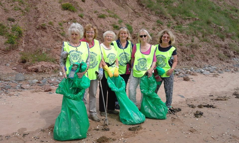 Soroptimist Heswall keeping our Beaches clean