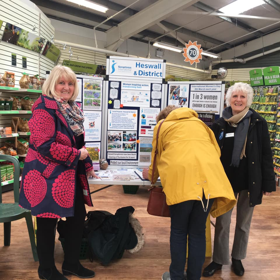 Soroptimist Heswall at Gordale Garden Centre for IWD