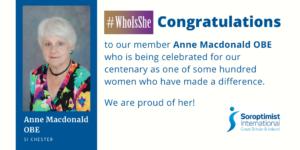 Headshot of Anne MacDonald explaining Who is She