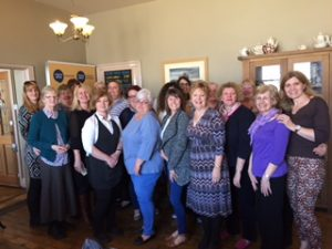 Fairplay parents with Soroptimist members & Claire from Stephensons