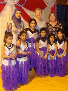 Keighley dancers with Crosby Soroptimist President Terry
