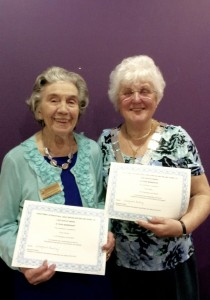 Roula Murray and Alma Bailey received their Long Service Awards (30 years each)