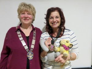 President Linda Stephenson and Lucia Russell (with Ellie and Simba)