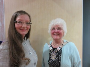 Our new member, Elizabeth Cooper, with President Alma