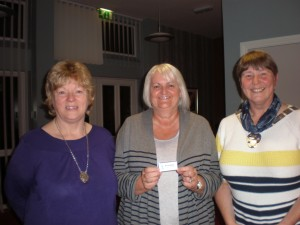 Left to Right: Linda Stephenson, New Member Val Gibson and Dorothy Thomson