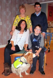 President Linda Stephenson with Thomas and Vito and his Mum and Dad