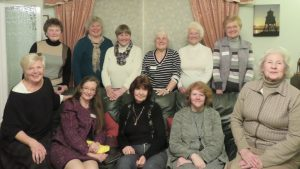 Some of the members at the Pie and Peas Supper.