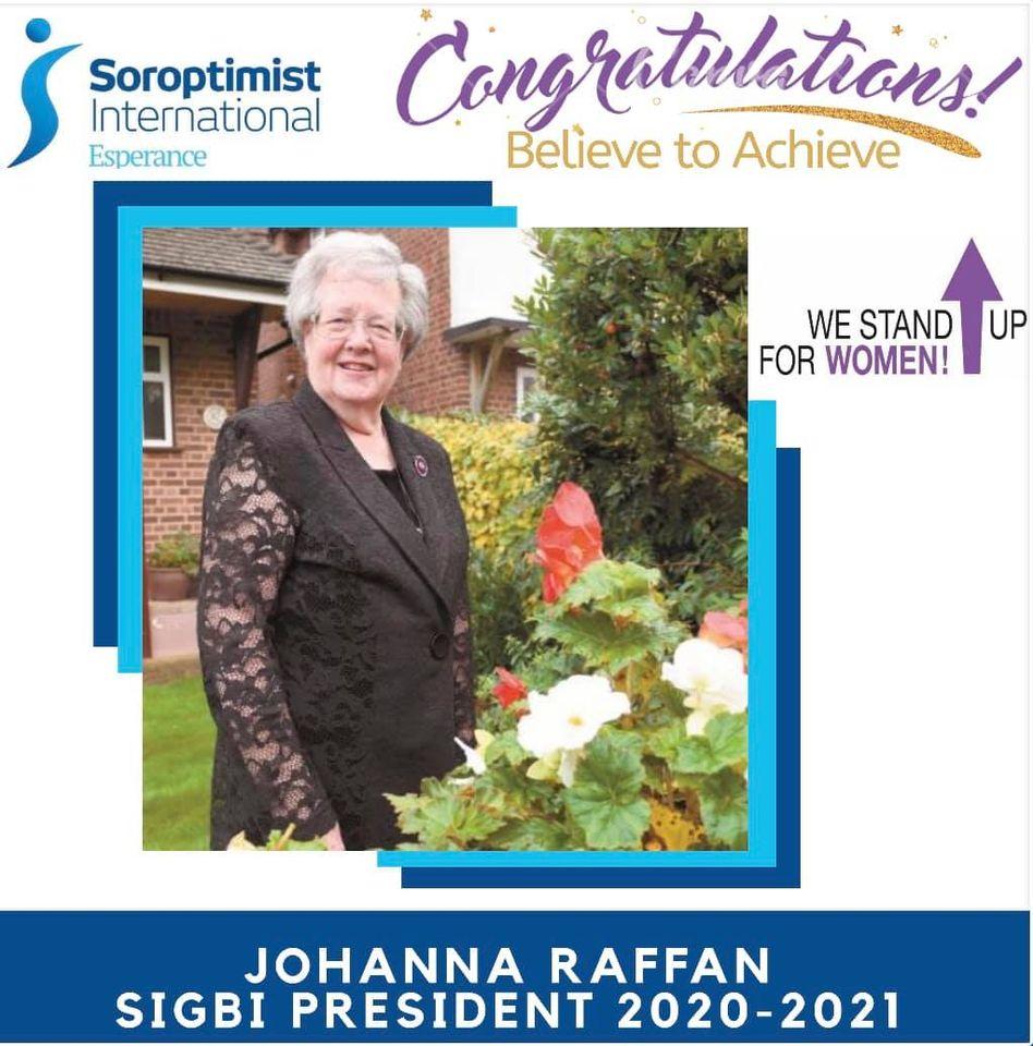 Congratulations President Johanna