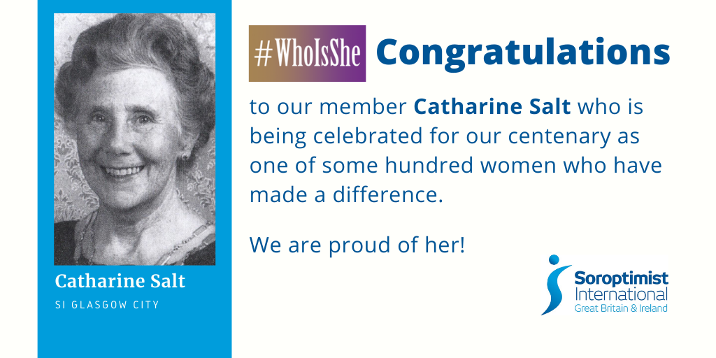 Catherine Salt, former SI Glasgow City member featured in the #WhoIsShe SIGBI celebration