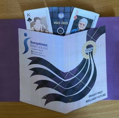SI Scotland South playing cards featuring a number of women