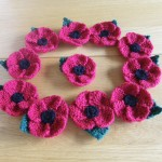 A circle of our beautiful Remembrance Day Poppies