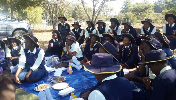 picnic with our junior club from Kriste Mambo Girls High