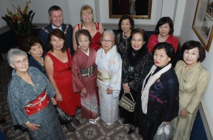 Members of Hirakata Chuo at Club 80th Charter dinner