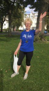 Maureen at the end of the Virtual North Run