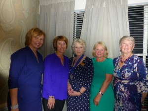 New members: Sandra Cromwell, Julia Bradage, Ceri Oshea and Kate Waldeis  with President Jane.
