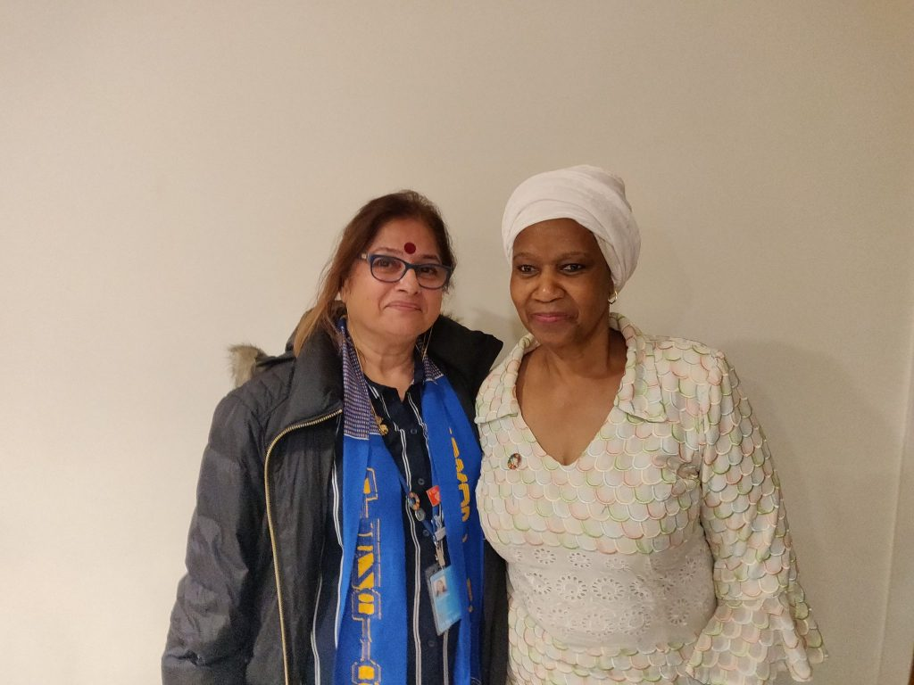 With Executive Director Phumzile Mlambo-Ngcuka of UN Women
