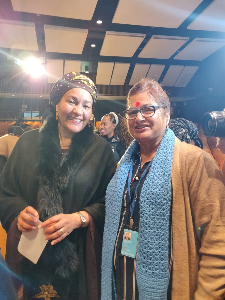 With Ms Amina J Mohammed, Deputy secretary General UN