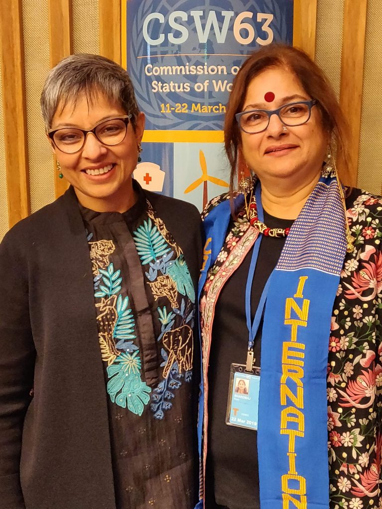 with Lopa Bannerjee, Chief of the civil Society Section at UN