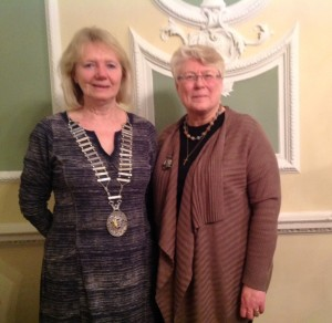 Joyce Boorman, Immediate Past Presidenton (on the right) with recently elected President Pat Dowding