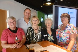 Our organising team with Rob Dunger, BBC Radio Suffolk who was Quizmaster